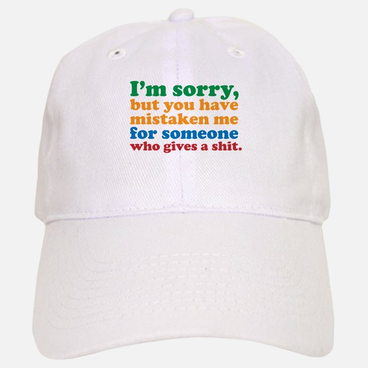 I Don't Care Baseball Baseball Cap