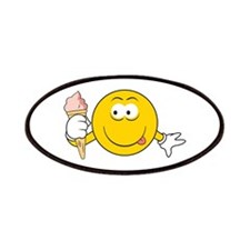Ice Cream Cone Smiley Face Patches