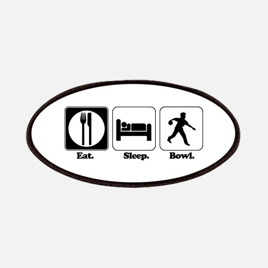 Eat. Sleep. Bowl. (Bowling) Patches