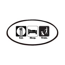 Eat. Sleep. Train. (Dog Train Patches