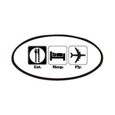 Eat. Sleep. Fly. (Pilot/Plane Patches