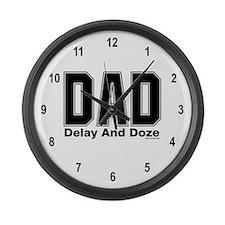Dad Acronym Large Wall Clock