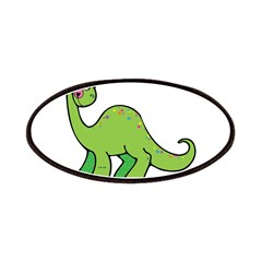 Cute Green Brontosaurus Dinos Patches