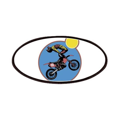 Dirt Bike Stunt Design Patches