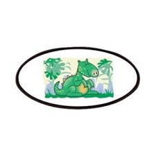 Cute Baby Green Dinosaur Patches
