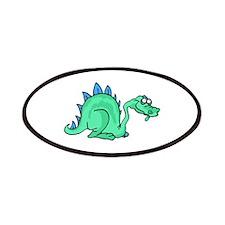 Goofy Green Stegasaurus Patches