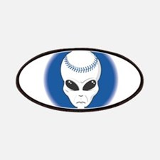 Baseball Alien Patches