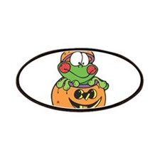 Silly Froggy in Pumpkin Patches