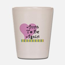 Aunt To Be Again Stripes Shot Glass
