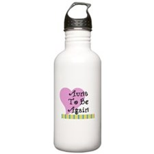 Aunt To Be Again Stripes Sports Water Bottle