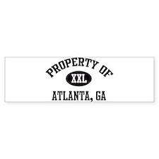 Property of Atlanta Bumper Bumper Sticker