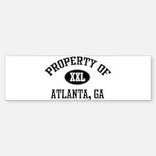 Property of Atlanta Bumper Bumper Bumper Sticker