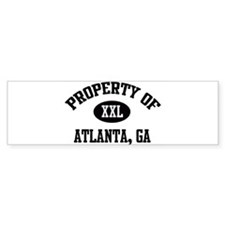 Property of Atlanta Bumper Bumper Sticker