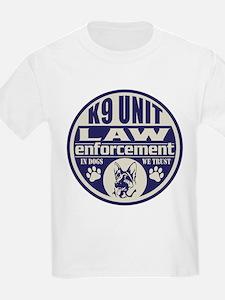 K9 In Dogs We Trust Blue T-Shirt