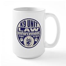 K9 In Dogs We Trust Blue Mug