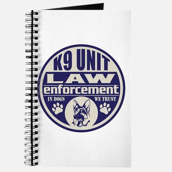 K9 In Dogs We Trust Blue Journal