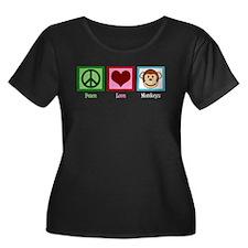 Peace Love Monkeys T