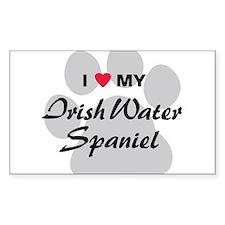 Irish Water Spaniel Decal