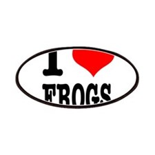 I Heart (Love) Frogs Patches