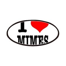 I Heart (Love) Mimes Patches