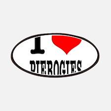 I Heart (Love) Pierogies Patches