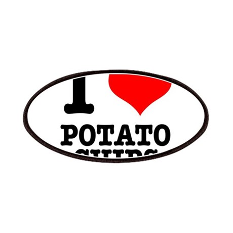 I Heart (Love) Potato Chips Patches