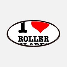 I Heart (Love) Roller Blades Patches