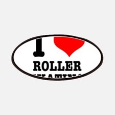 I Heart (Love) Roller Skating Patches