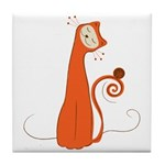 Cheerful Cat Tile Coaster