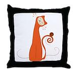 Cheerful Cat Throw Pillow