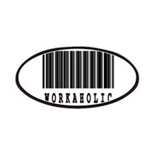 Workaholic Barcode Design Patches