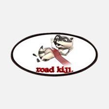 Funny Road Kill Racoon Patches