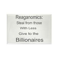 Reaganomics Anti MiddleClass Rectangle Magnet