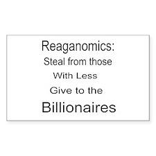 Reaganomics Anti MiddleClass Decal