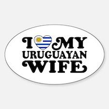 I Love My Uruguayan Wife Decal
