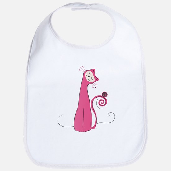 Cheerful Cat Bib