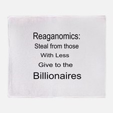 Reaganomics Anti MiddleClass Throw Blanket