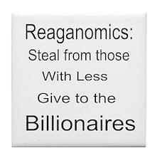 Reaganomics Anti MiddleClass Tile Coaster