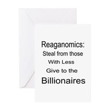 Reaganomics Anti MiddleClass Greeting Card