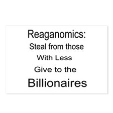 Reaganomics Anti MiddleClass Postcards (Package of