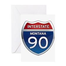 Interstate 90 - Montana Greeting Card