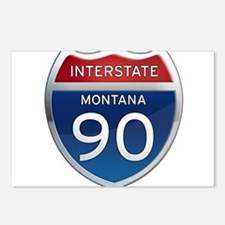 Interstate 90 - Montana Postcards (Package of 8)