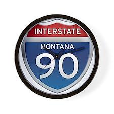 Interstate 90 - Montana Wall Clock