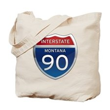 Interstate 90 - Montana Tote Bag