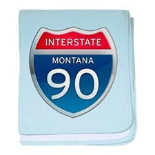 Interstate 90 - Montana baby blanket