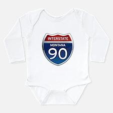 Interstate 90 - Montana Long Sleeve Infant Bodysui