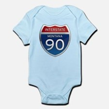 Interstate 90 - Montana Infant Bodysuit