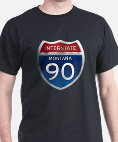 Interstate 90 - Montana T-Shirt