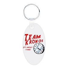 Team Kronos Aluminum Oval Keychain