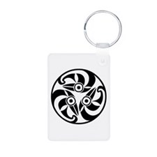 3 Ravens Aluminum Photo Keychain